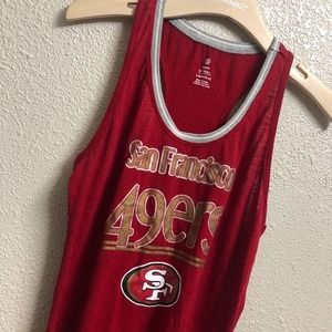 49ers tank NFL Football tank Red gold